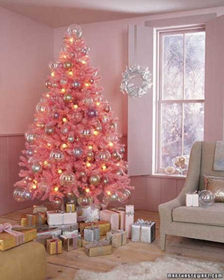 martha stewart pink christmas tree
