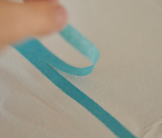 cut tape in half for thin stripe