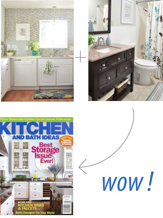 feature in kitchens and baths