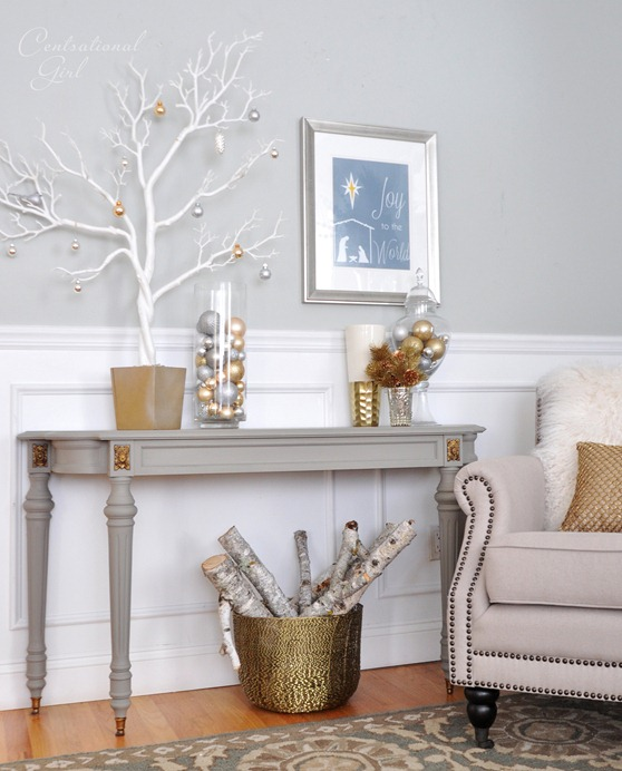 french linen gray console
