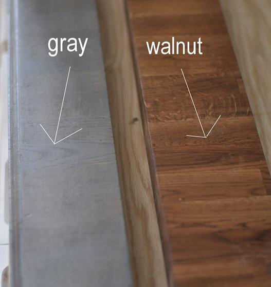gray v dark stain
