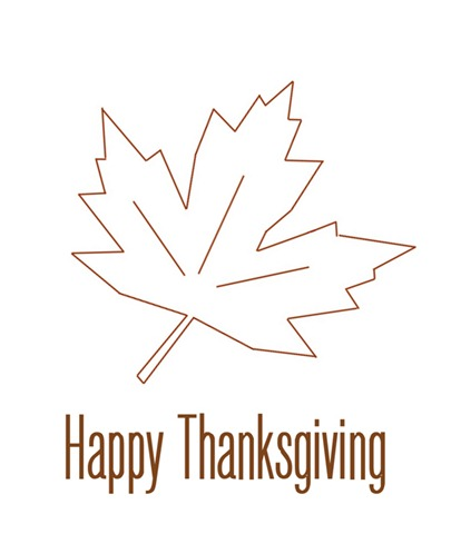 happy thanksgiving maple leaf