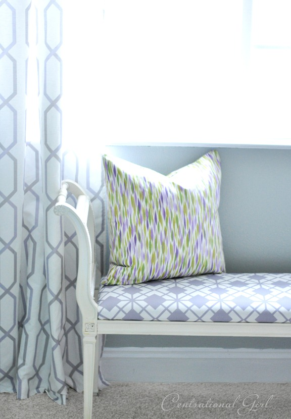 lavender fabrics in girls room