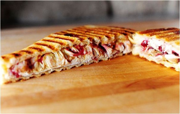 leftover turkey and swiss panini