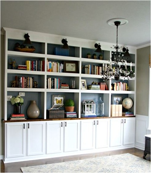 library built in bookcases thrifty decor chick