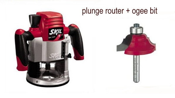 plunge router and ogee bit