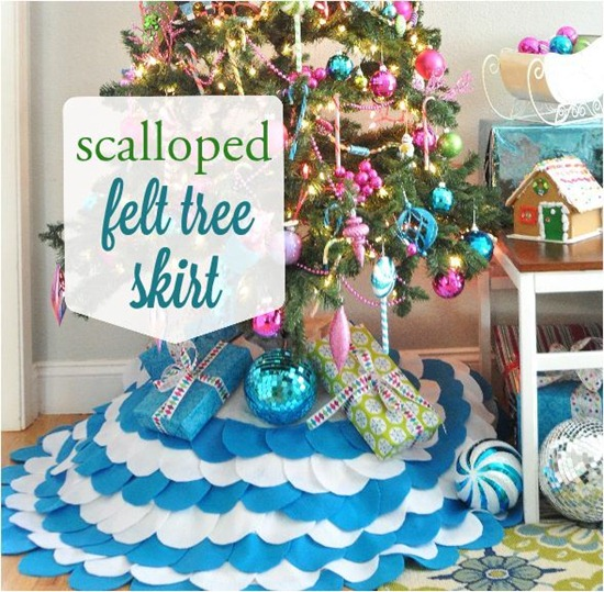 scalloped felt christmas tree skirt