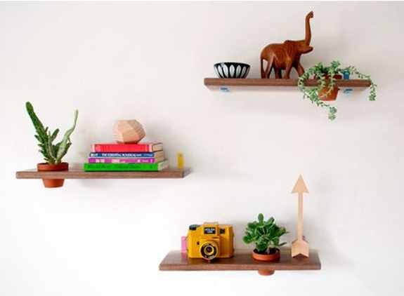 wall mounted plant shelves