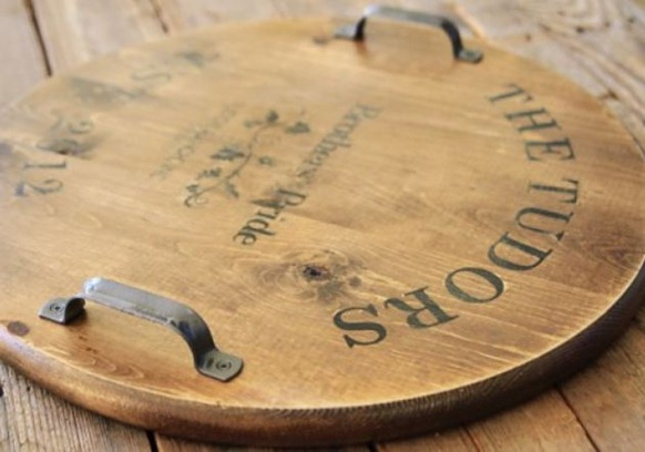 wine barrel inspired tray lilblueboo