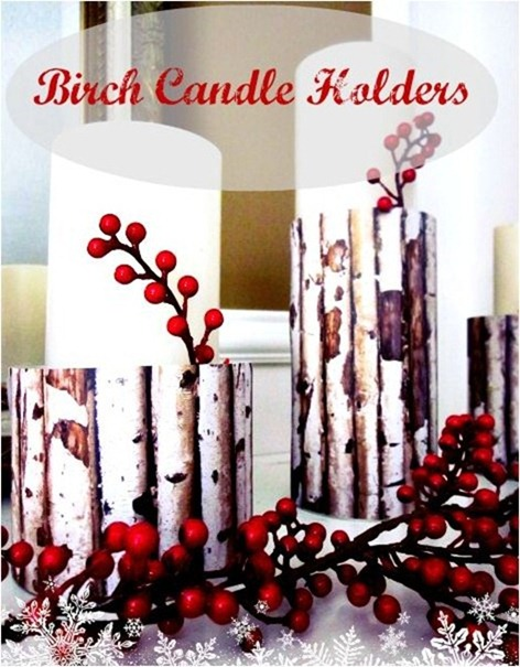 birch candle holders homespunwithlove