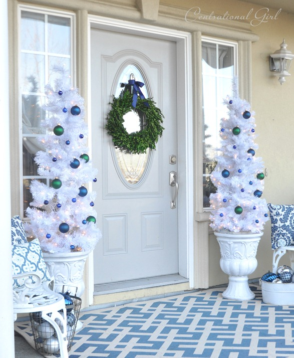 Blue & White Christmas Porch ...