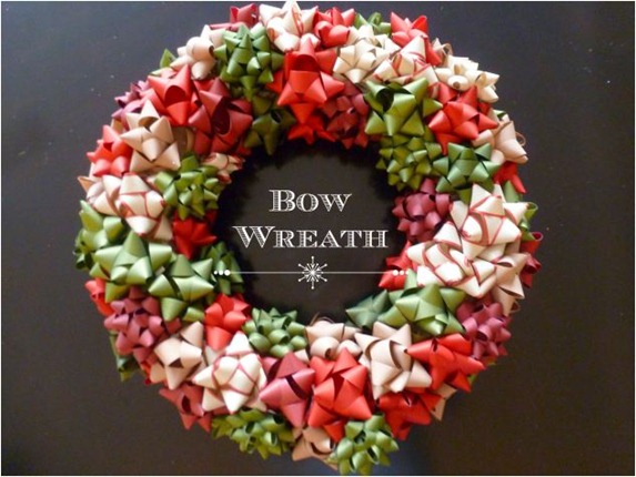 bow wreath design improvised