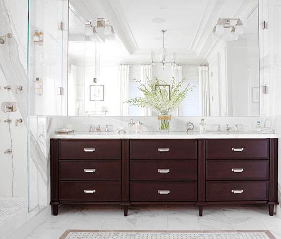 dark vanity marble countertop bhg