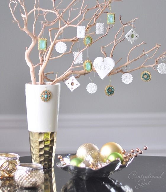 filigree and jeweled ornaments