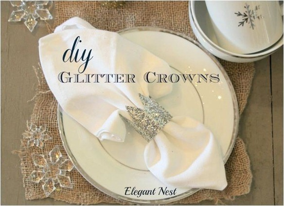 glitter crown napkin holder elegant nest