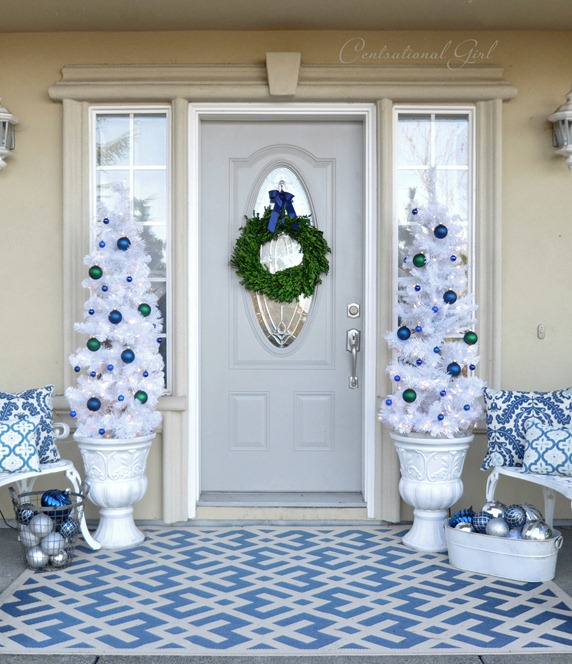 kates blue christmas porch
