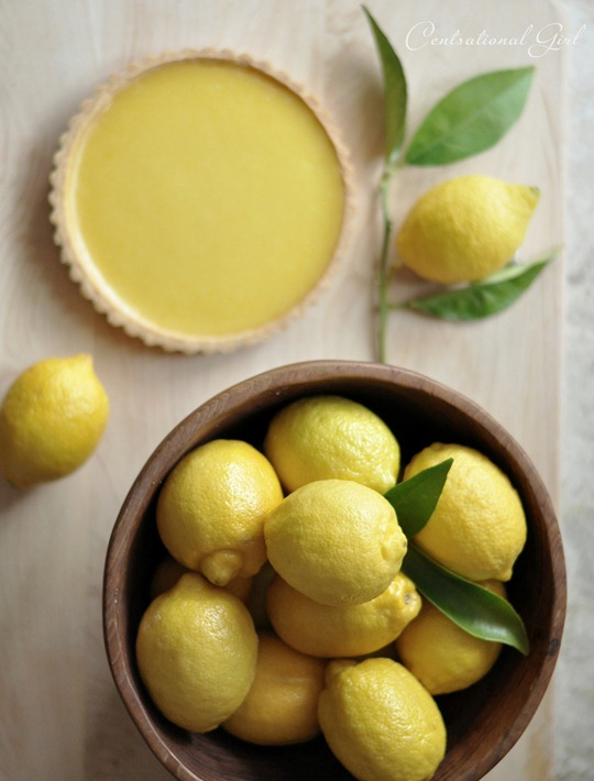lemons in wood bowl