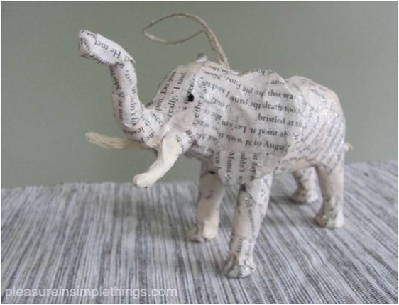 paper animal ornaments pleasureinsimplethings