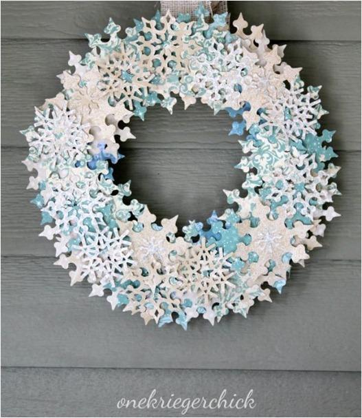 paper snowflake wreath onekriegerchick