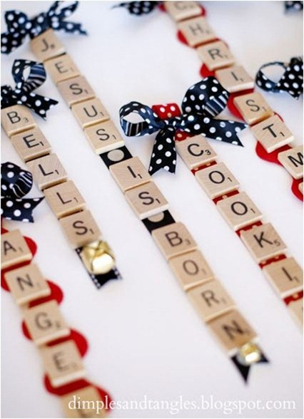 scrabble ornaments dimples and tangles