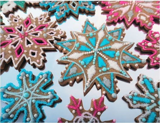 snowflake cookies worthpinning