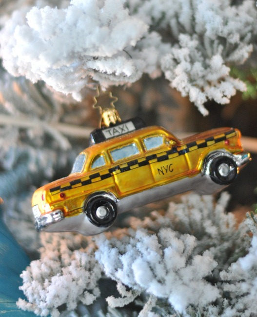 taxi cab ornament