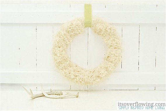 tufted wool wreath itsoverflowing