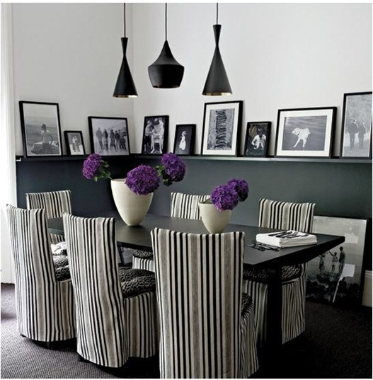 black and white photography in dining room housetohome