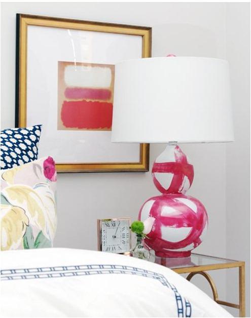 brushstroke lamp madebygirl