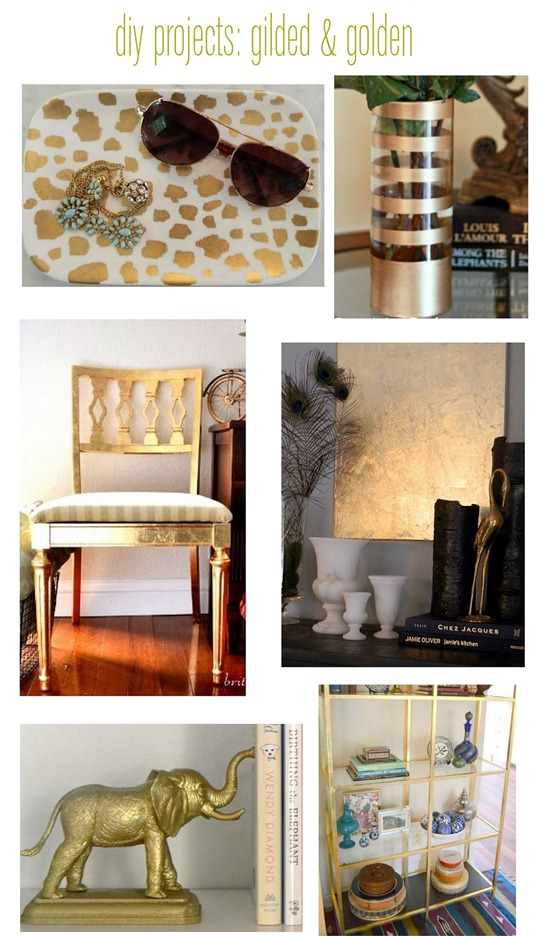 diy gilded and gold leaf projects