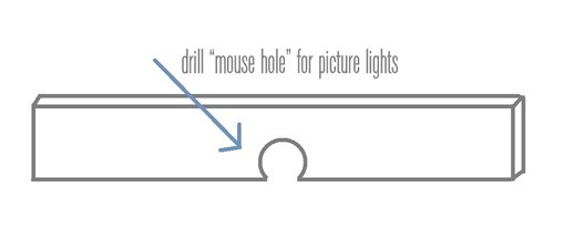 drill mouse hole with drill bit