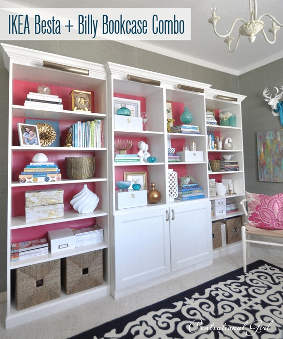 Centsational Girl » Blog Archive Besta, Billy, & Brass Bookcases