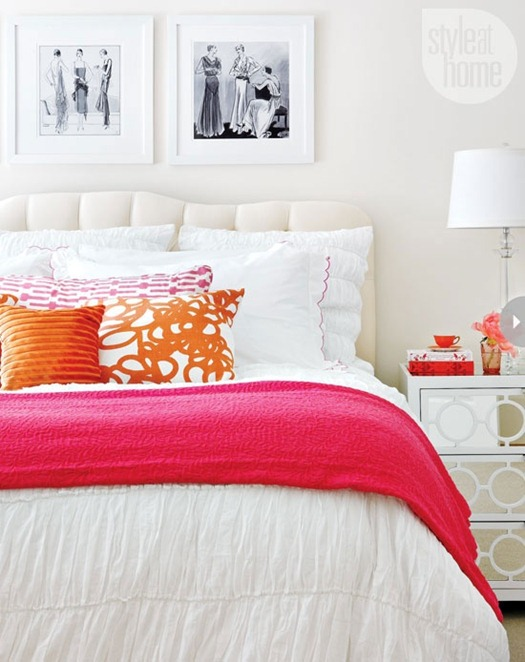 pink and orange linens styleathome