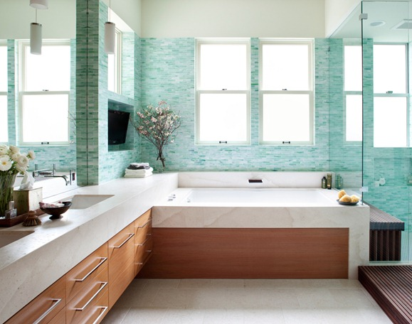 Industry insight from a field scout stylist for Sea glass bathroom ideas