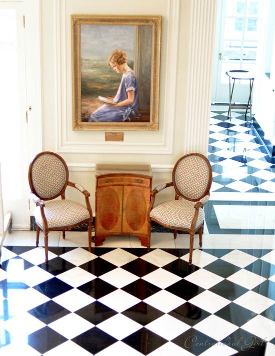 black and white floor duke mansion