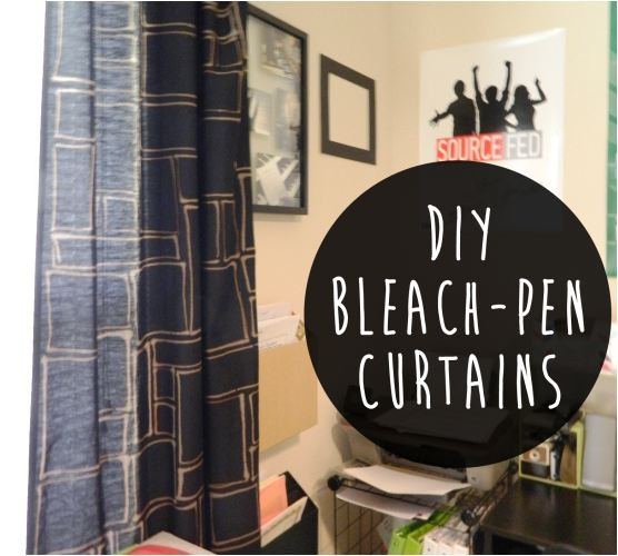 bleach pen curtains twolivecolorfully