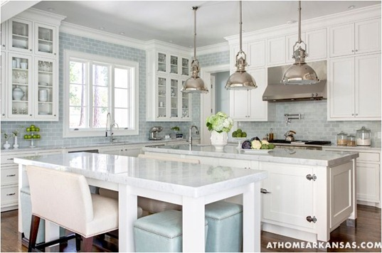 6 ways to dress a kitchen window centsational girl - Light blue and white kitchen ...