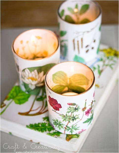 book cover votives craftandcreativity