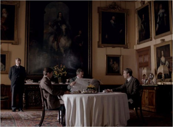 breakfast room downton abbey