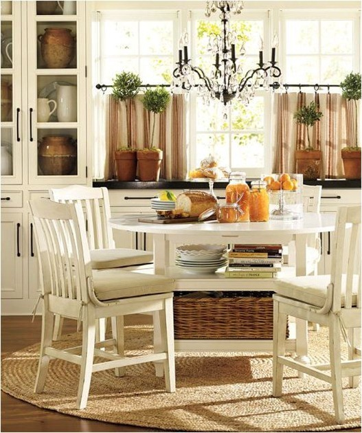 6 ways to dress a kitchen window centsational girl for Pottery barn style kitchen ideas