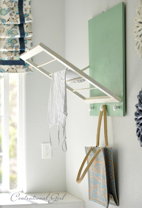DIY: Laundry Room Drying Rack | Centsational Style