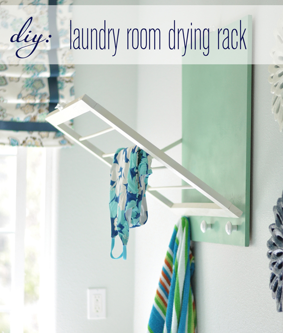 diy laundry room drying rack