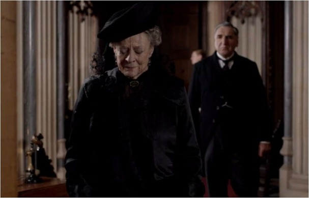 dowager in mourning