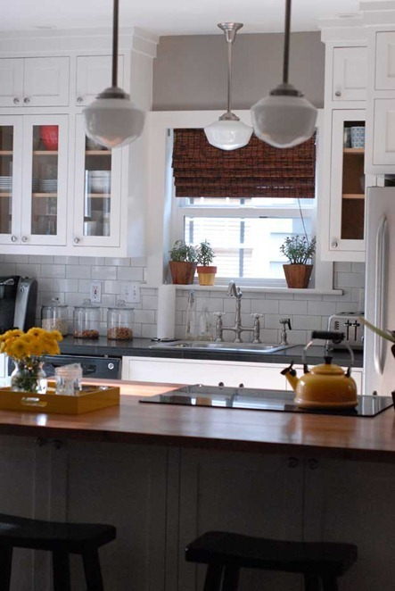 kitchen woven shades restored style