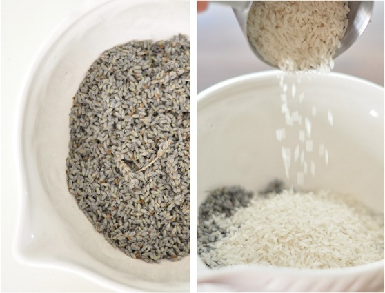 lavender in bowl mix in rice