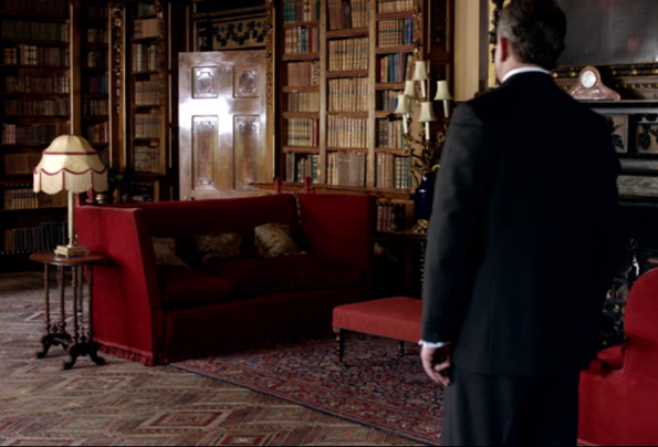 library red sofas downton abbey