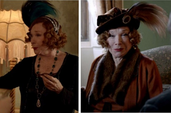 plumes on downton
