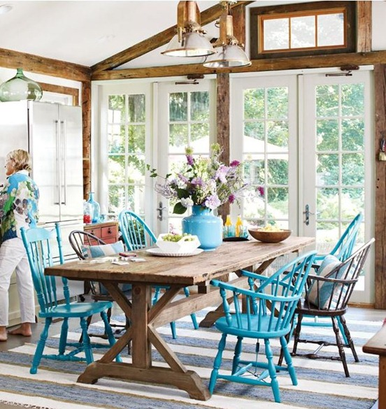 turquoise chairs bhg