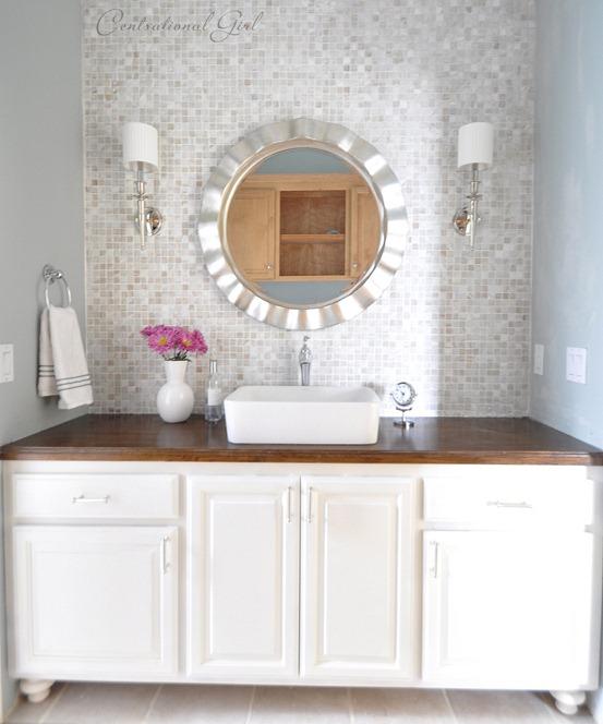 The lucky backsplash centsational girl - Discount bathroom vanity and sink combo ...