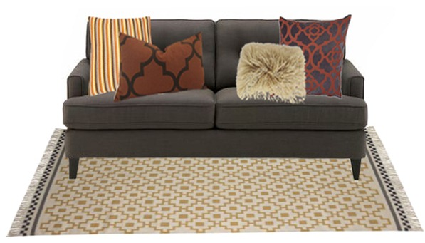warm tones pattern mix